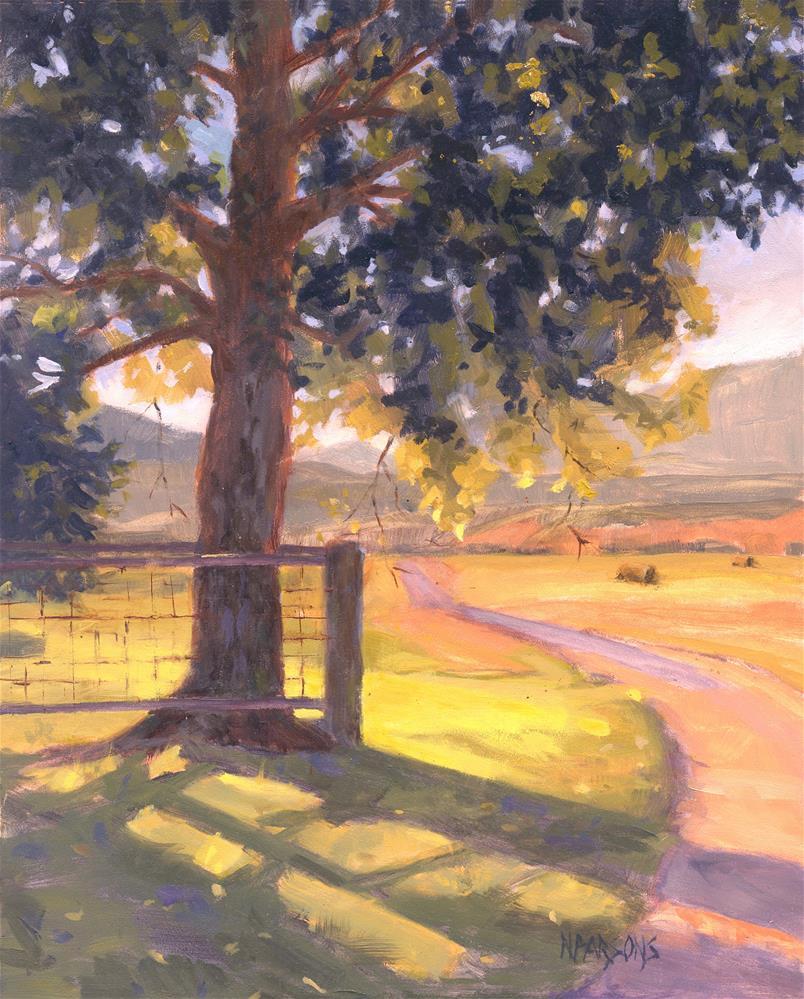 """Bend in the Road (framed)"" original fine art by Nancy Parsons"