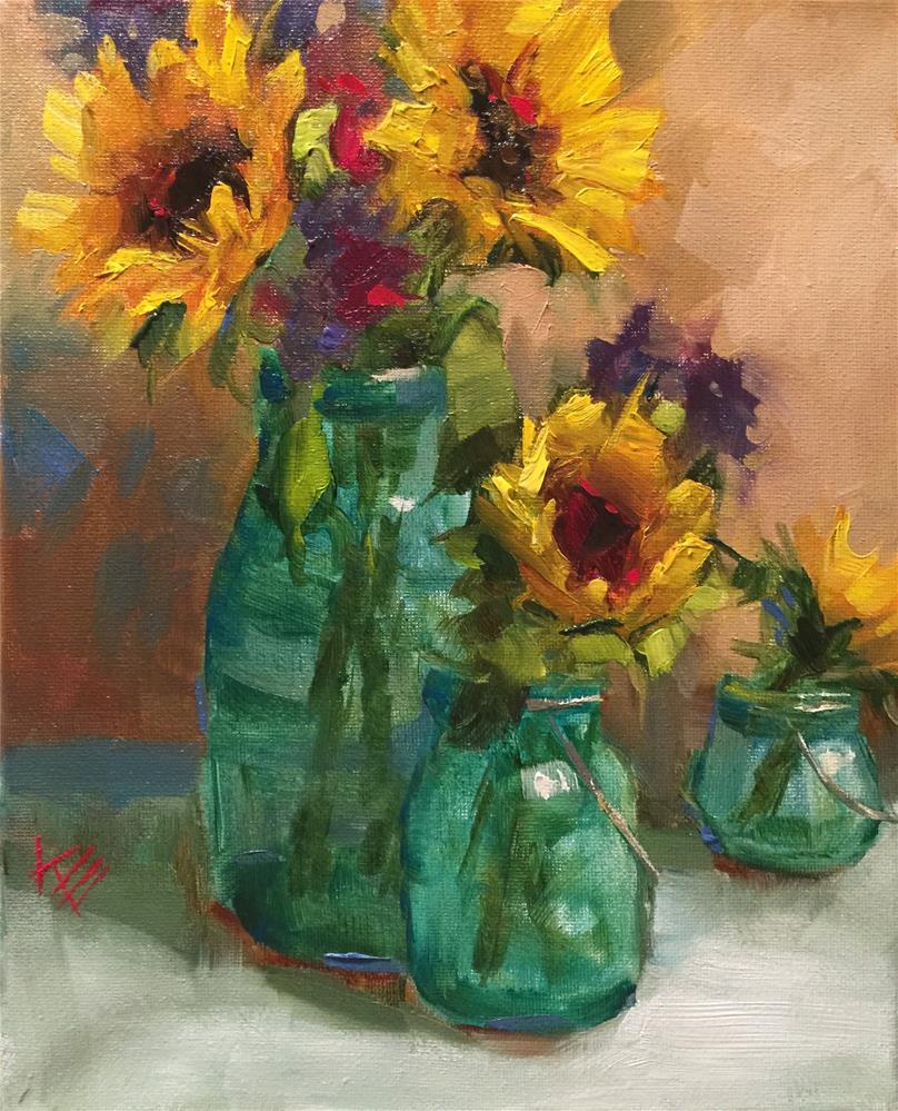 """""""Sunflower Medley"""" original fine art by Krista Eaton"""