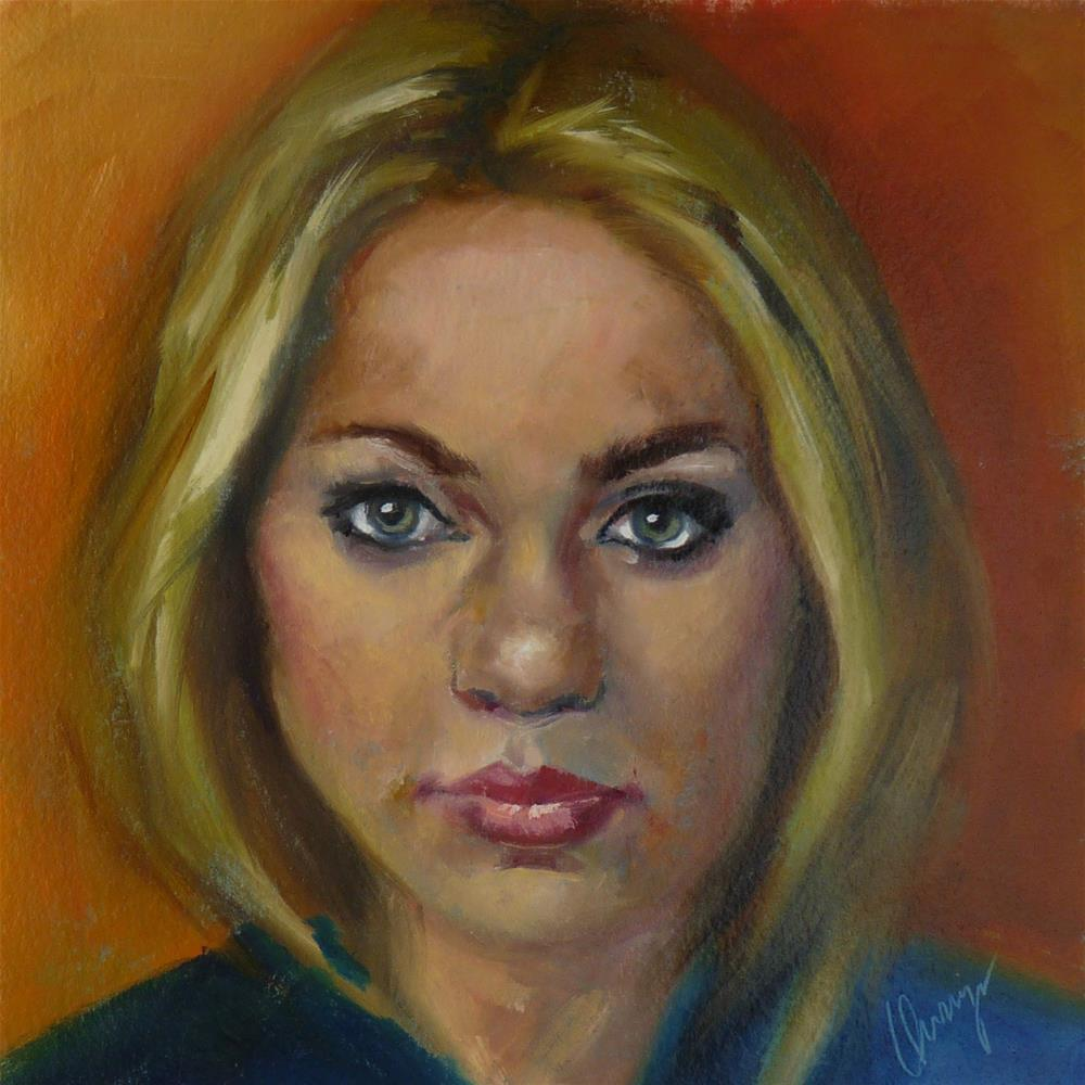 """""""My Drivers License Says Blonde..."""" original fine art by Sharman Owings"""