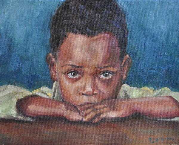 """Wishing - for The Hunger Project Charity"" original fine art by Tahirih Goffic"