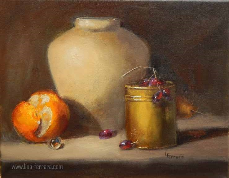 """Almost Peeled"" original fine art by Lina Ferrara"