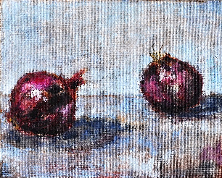 """""""Darling Onions of May"""" original fine art by Kevin Inman"""