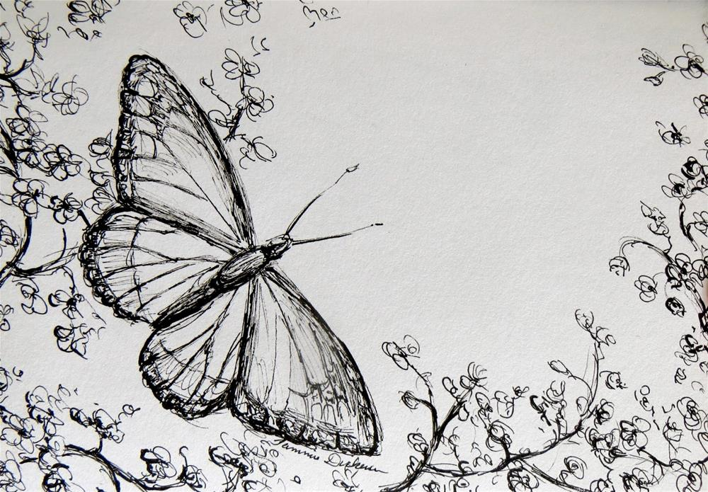 """""""Viceroy in Ink"""" original fine art by Tammie Dickerson"""