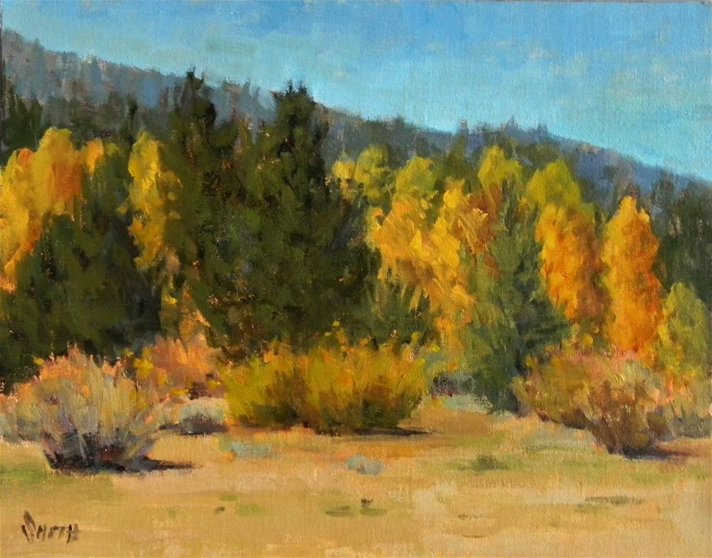 """Hope Valley Gold"" original fine art by Barbie Smith"