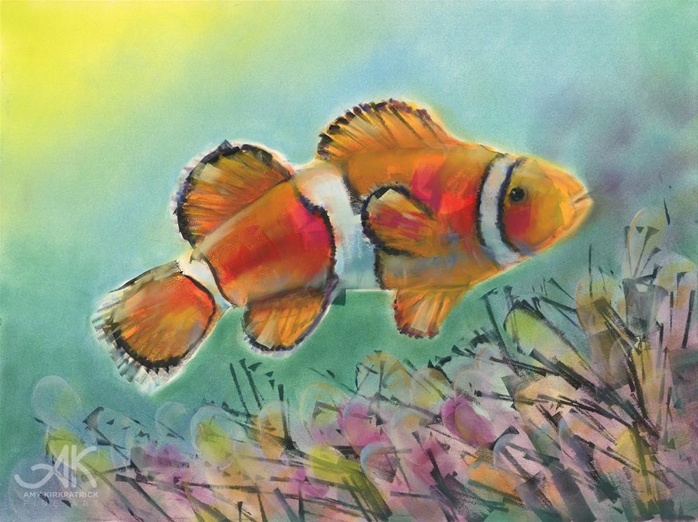 """""""CLOWN FISH #0754"""" original fine art by Amy Kirkpatrick"""