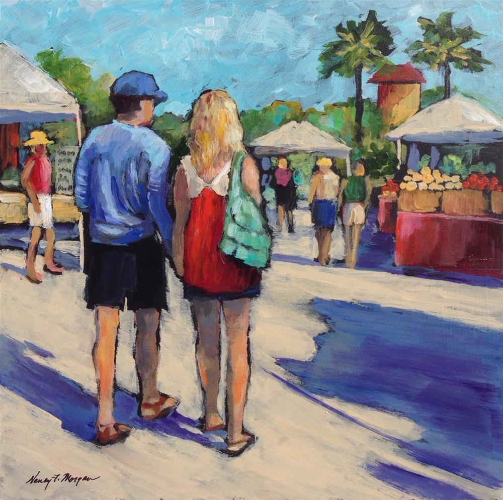 """Hand in Hand"" original fine art by Nancy F. Morgan"