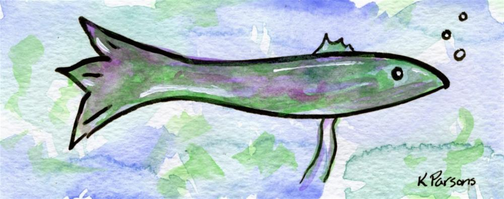 """When I was a Fish"" original fine art by Kali Parsons"