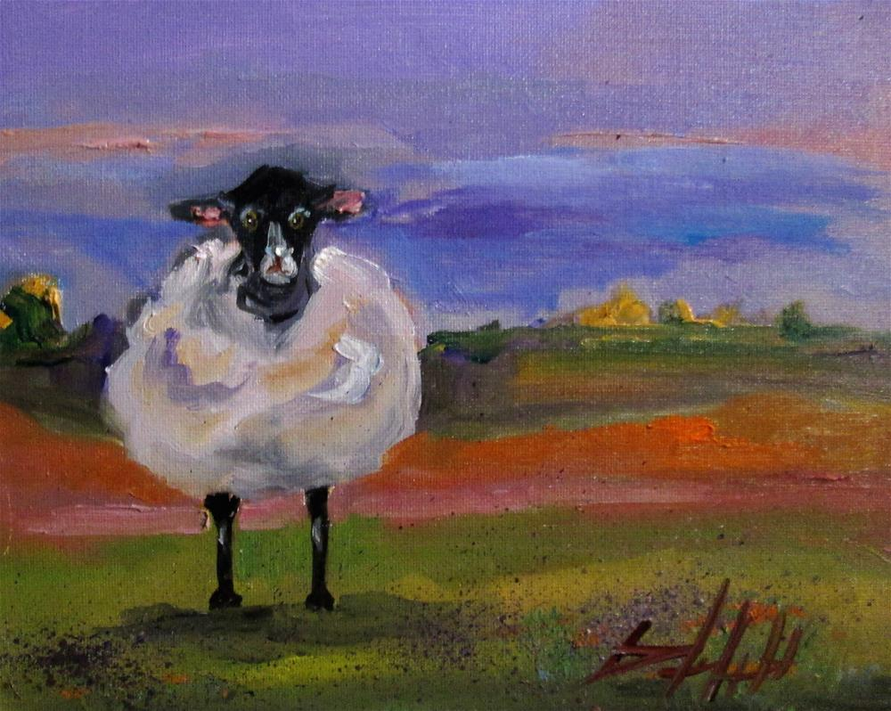 """""""Fat and Fuzzy Sheep"""" original fine art by Delilah Smith"""
