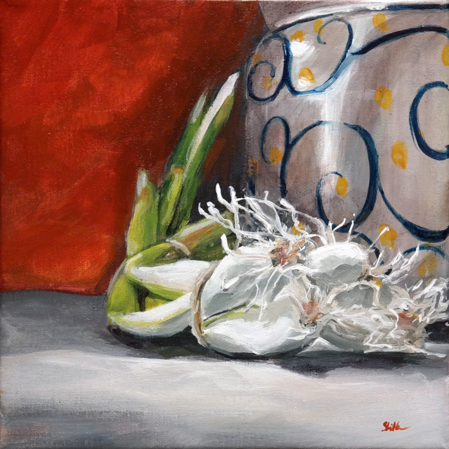 """1313 Spring Onion with Pot"" original fine art by Dietmar Stiller"