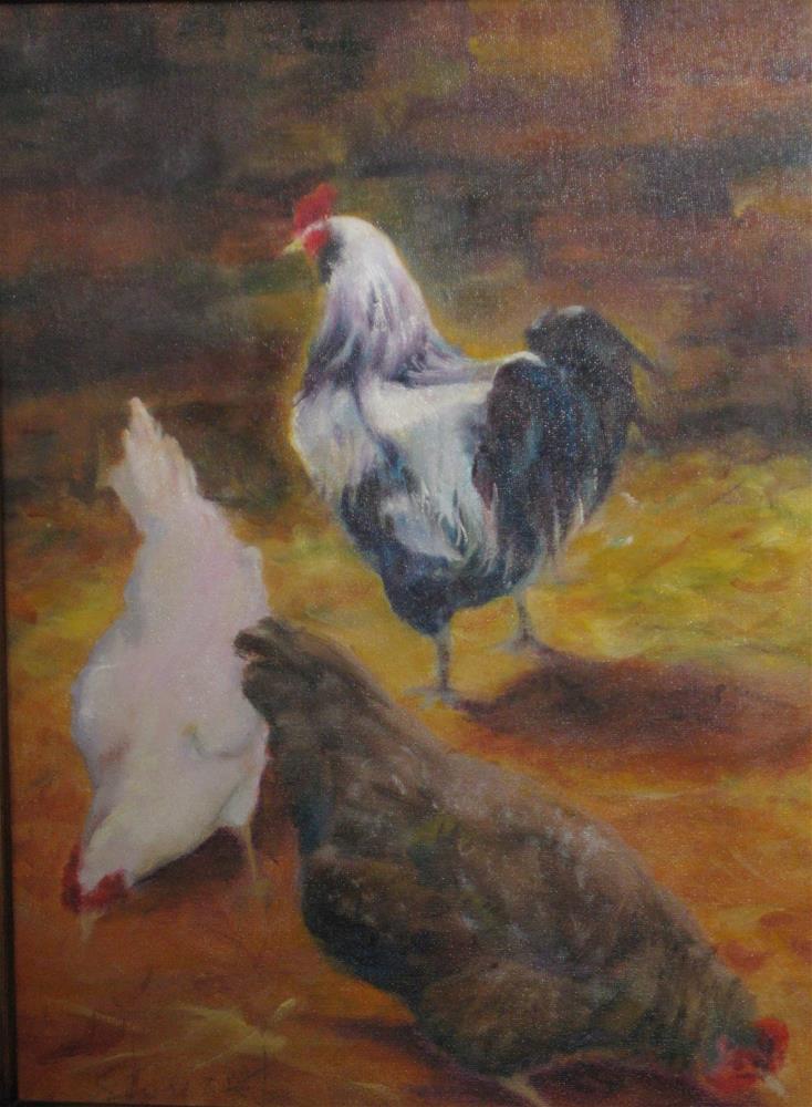 """""""LARRY, MOE & CURLY"""" original fine art by Kris Stewart"""