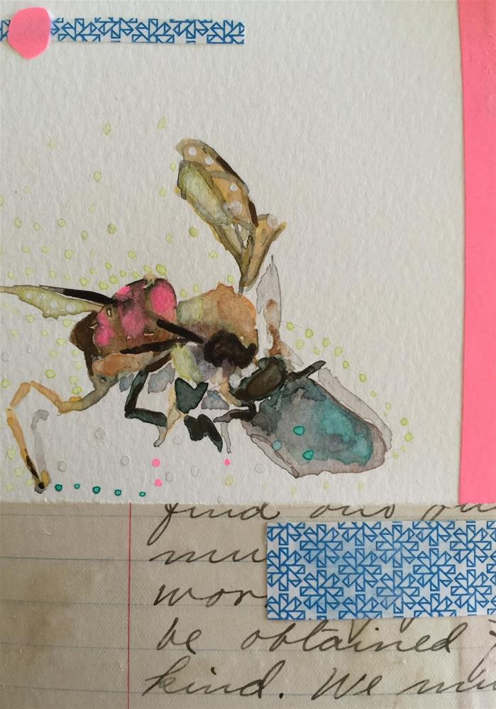 """187 Bee Without a Penny"" original fine art by Jenny Doh"