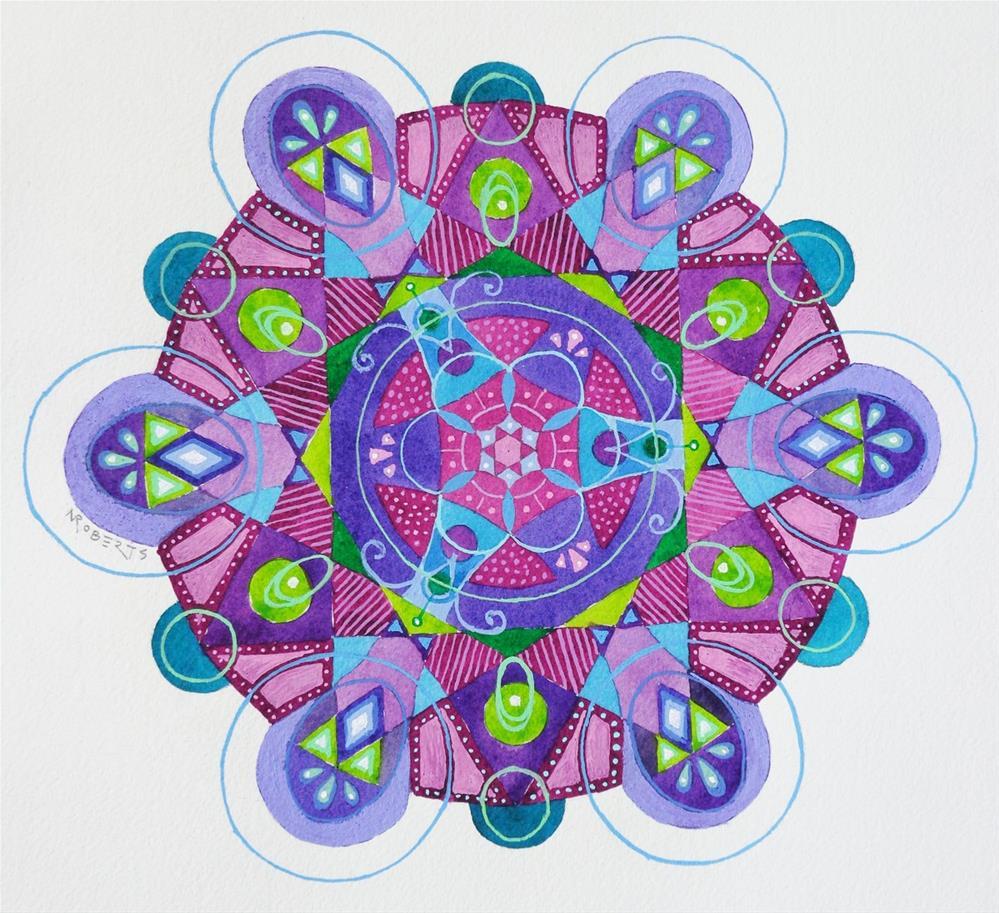 """Kaleidoscope One"" original fine art by Nancy Roberts"