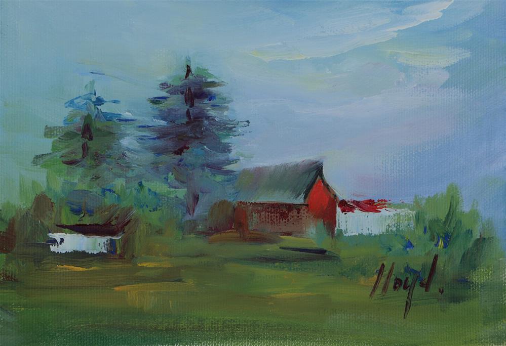 """""""Indiana Farm"""" original fine art by Diane Lloyd"""