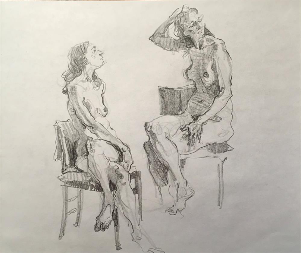 """Figure55"" original fine art by Katya Minkina"