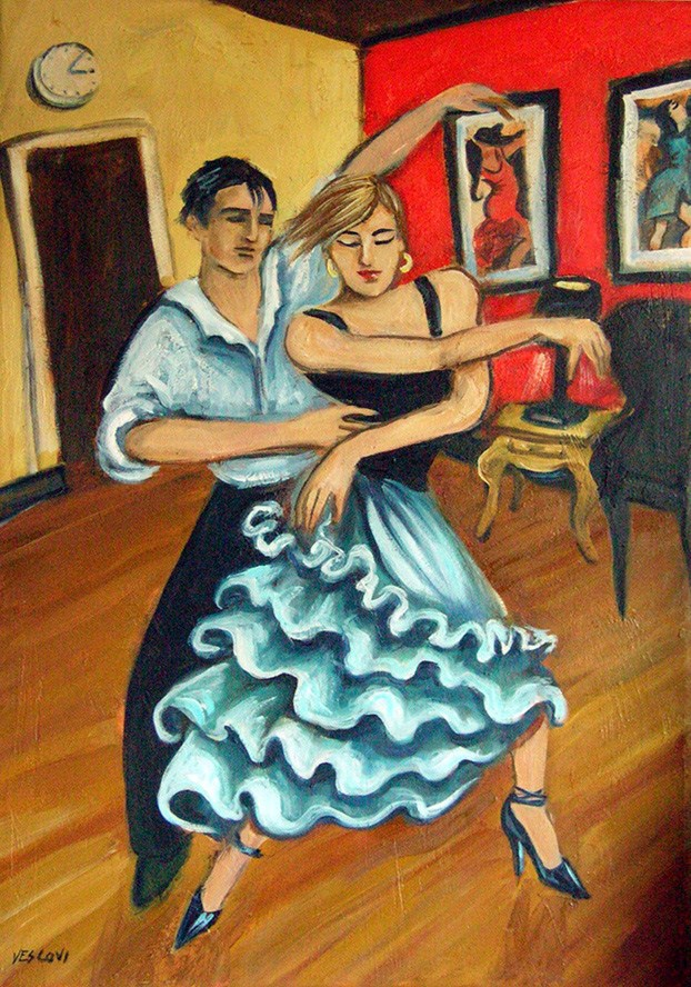 """Flamenco"" original fine art by Valerie Vescovi"