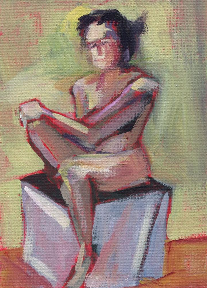"""0477: Figure Study"" original fine art by Brian Miller"