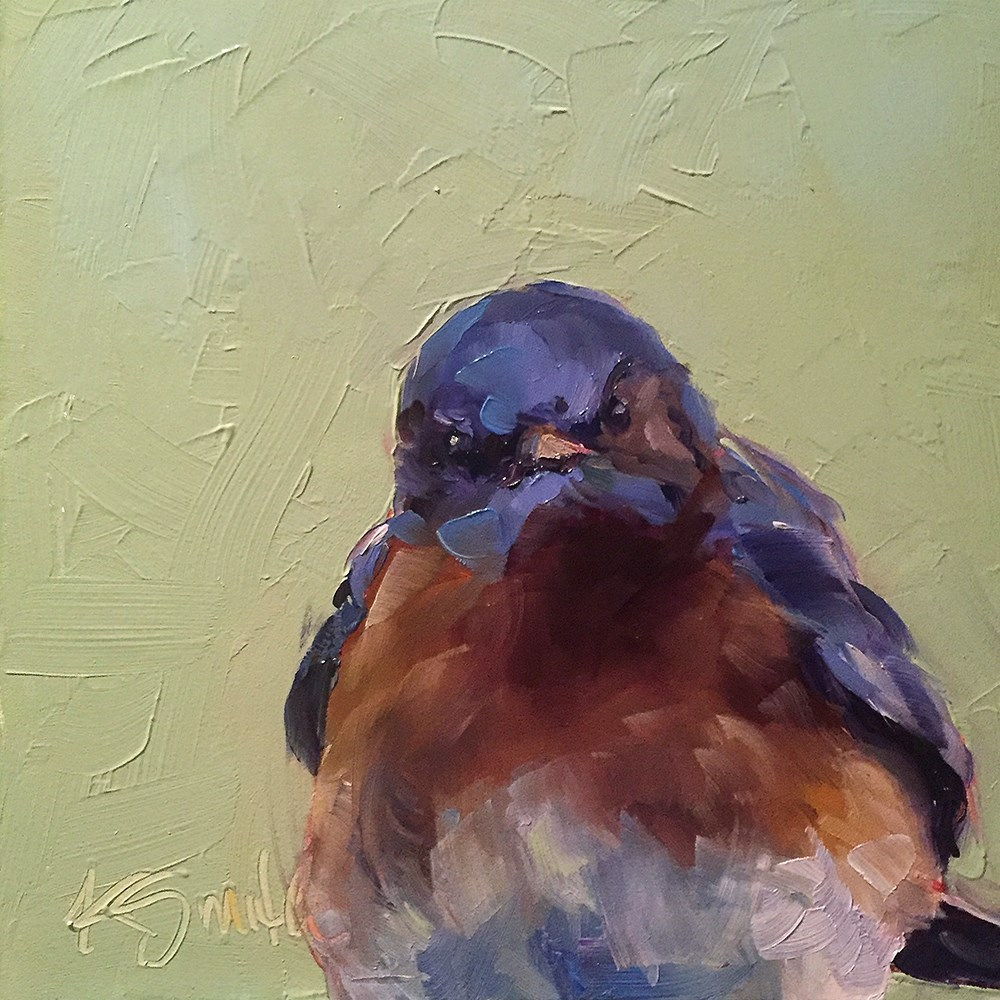 """bluebird"" original fine art by Kim Smith"