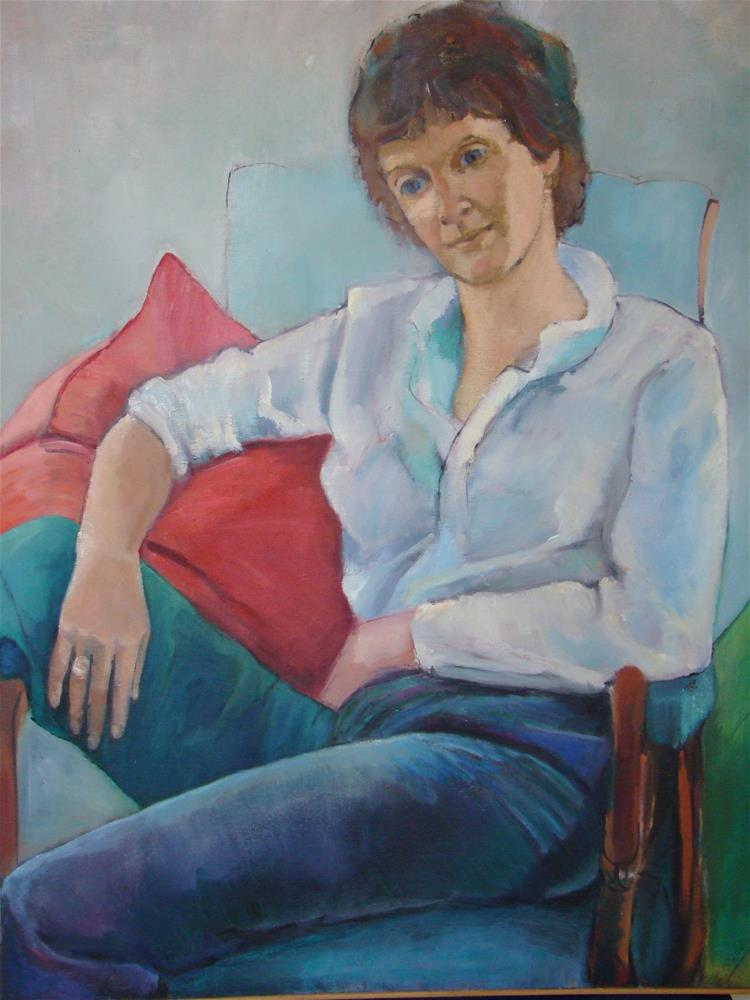 """Gail"" original fine art by meribeth coyne"