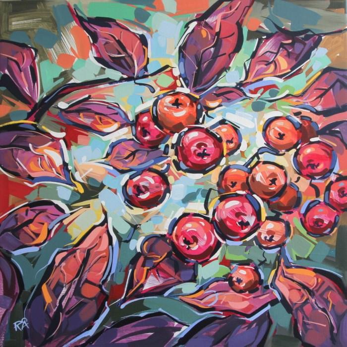 """Rowan Berries 24"" original fine art by Roger Akesson"