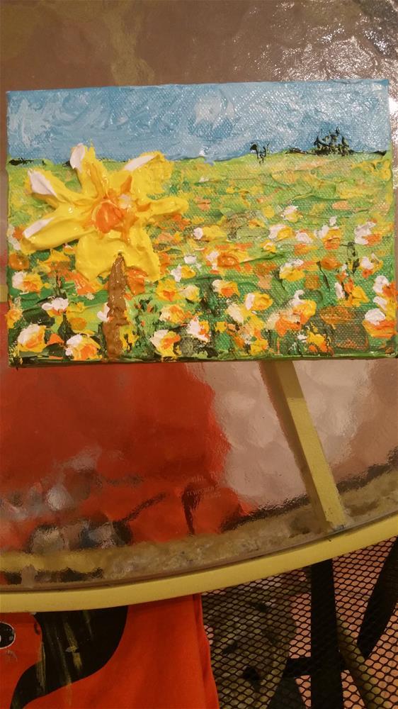 """Palette Petal painting"" original fine art by Jo Allebach"