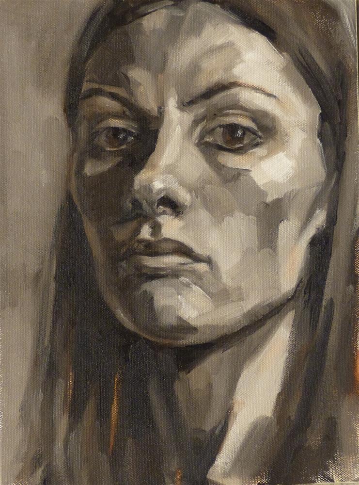 """Self-portrait #4"" original fine art by Katya Minkina"