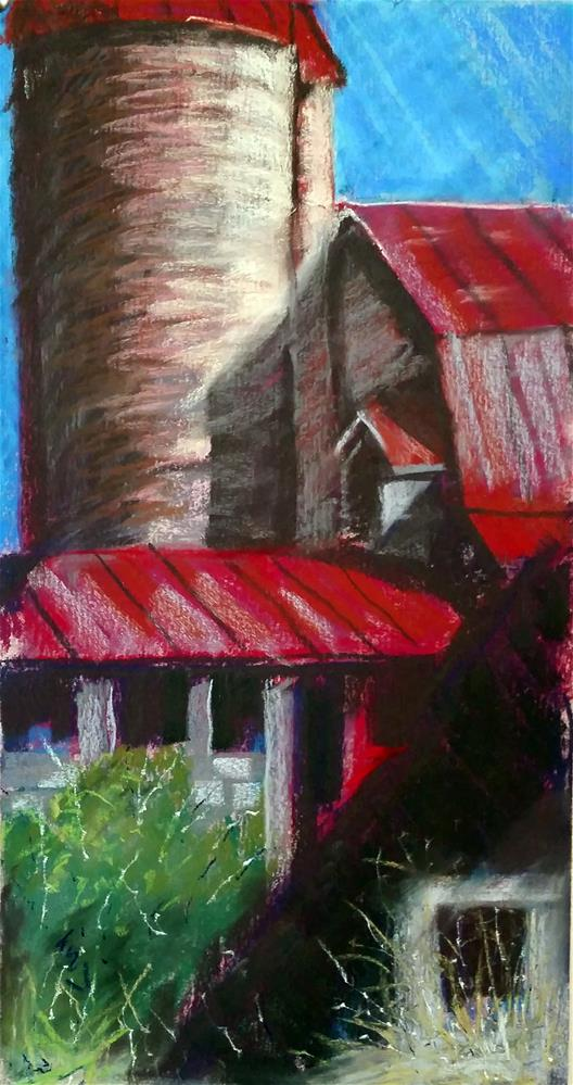 """Aging Virginia Dairy Barn"" original fine art by Catherine Kauffman"