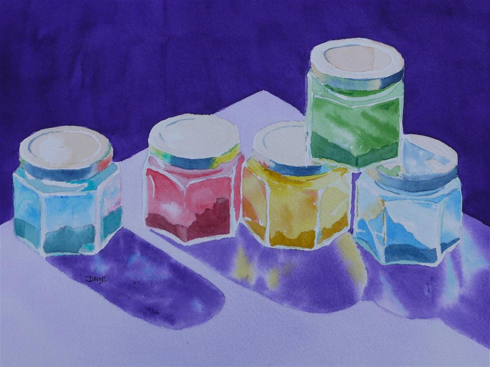 """Pigment Jars"" original fine art by Dana Richards"
