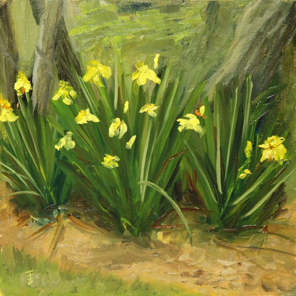 """Spring Flora"" original fine art by Jane Frederick"