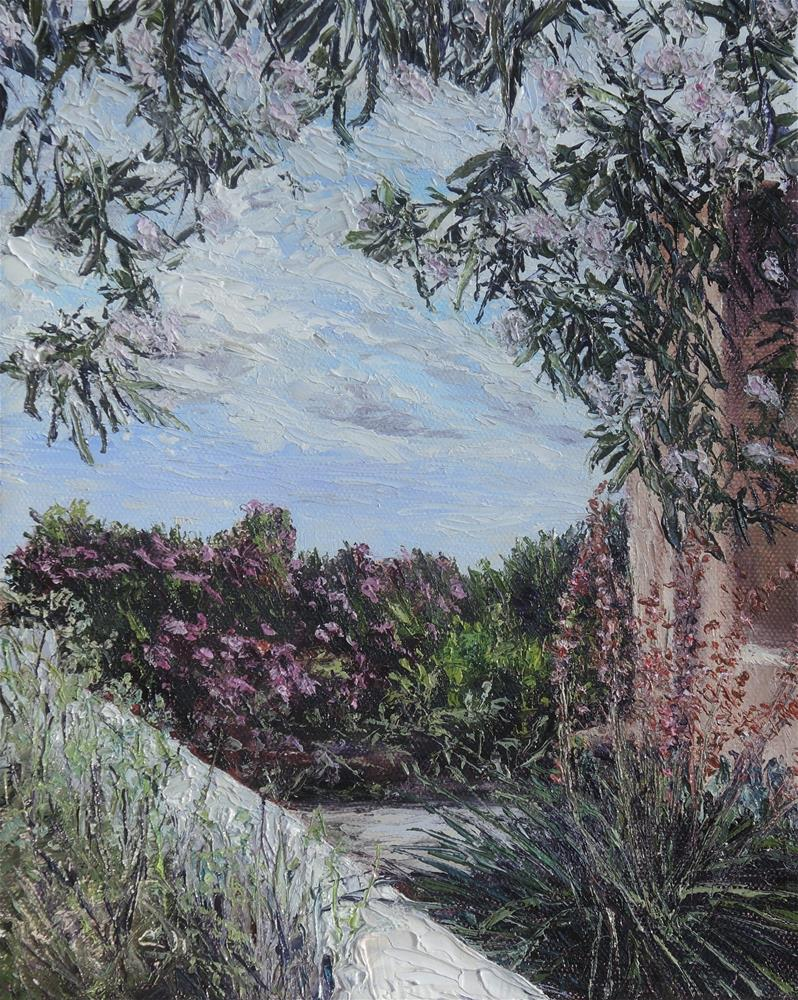 """Clouds Through The Catalpa Tree"" original fine art by Candi Hogan"
