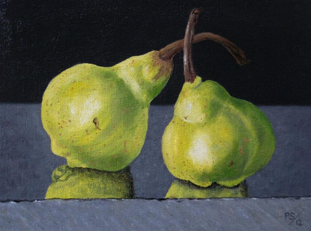"""Packham Pears"" original fine art by Pera Schillings"