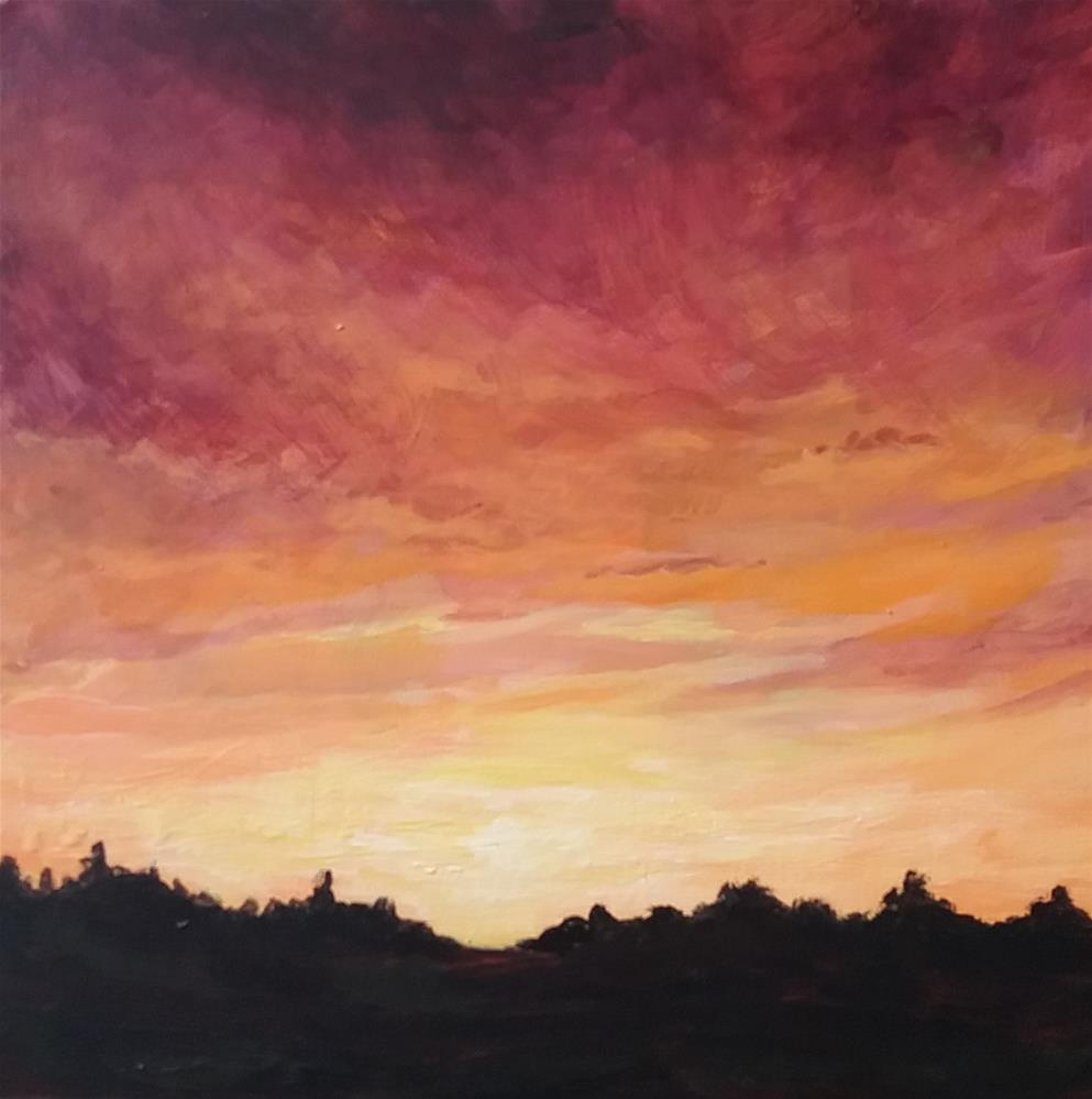 """Red sky at night"" original fine art by Staar Caswell"