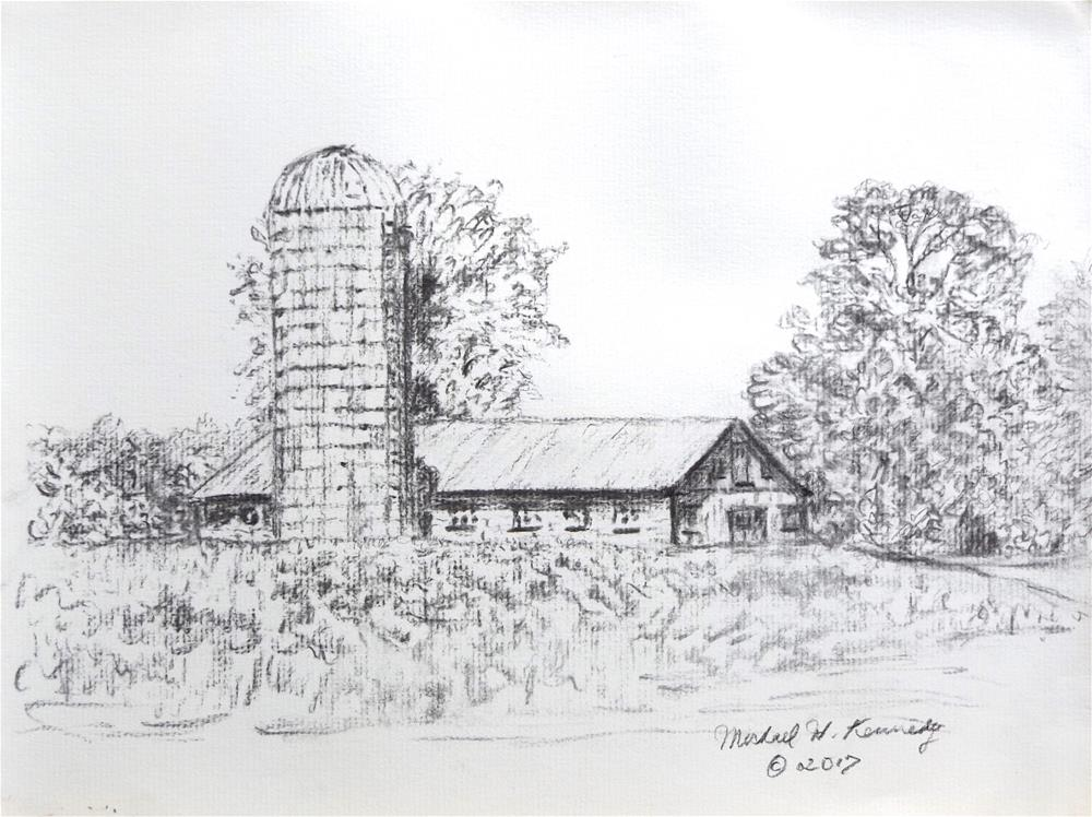 """Silo in Hollis"" original fine art by Michael Kennedy"