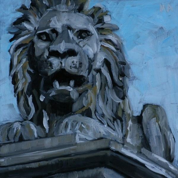 """Watch Lion"" original fine art by Aniko Makay"
