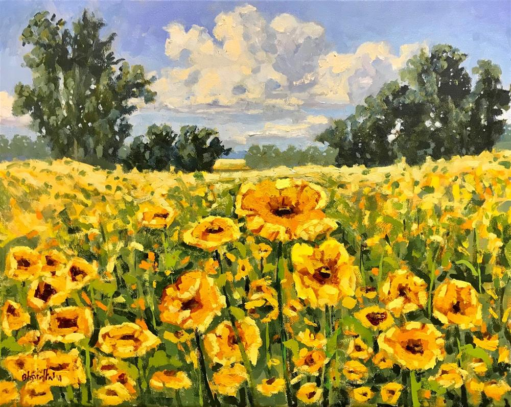 """Florida Wildflowers"" original fine art by Linda Blondheim"