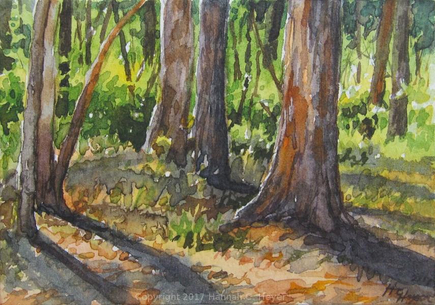 """Tiny Original Painting/ACEO: gum tree study"" original fine art by Hannah C. Heyer"