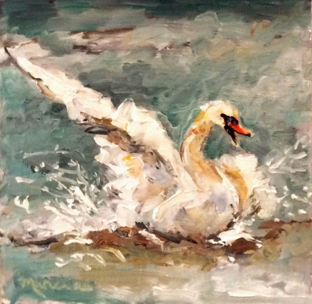 """Touchdown"" original fine art by Marcia Hodges"