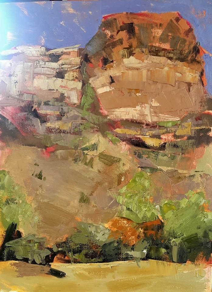 """Facerock"" original fine art by Rentia Coetzee"
