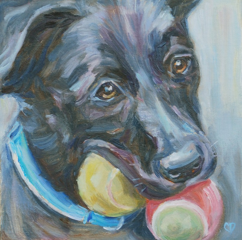 """The More the Merrier!"" original fine art by Carol DeMumbrum"