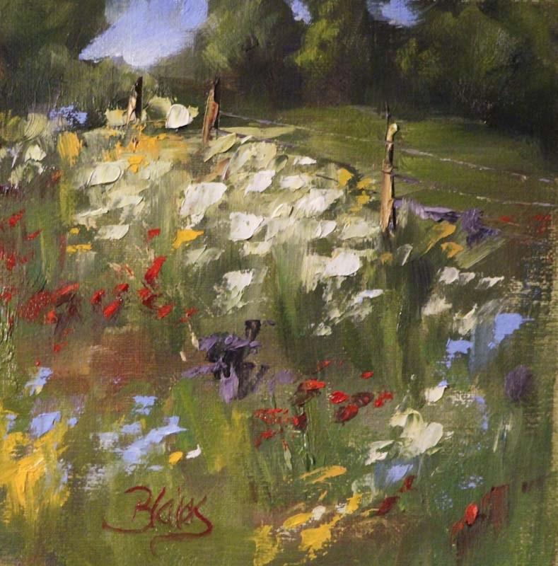 """""""Wildflowers en Plein Air"""" original fine art by Pamela Blaies"""