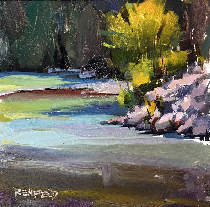 """#865 Early Morning Glow"" original fine art by Cathleen Rehfeld"