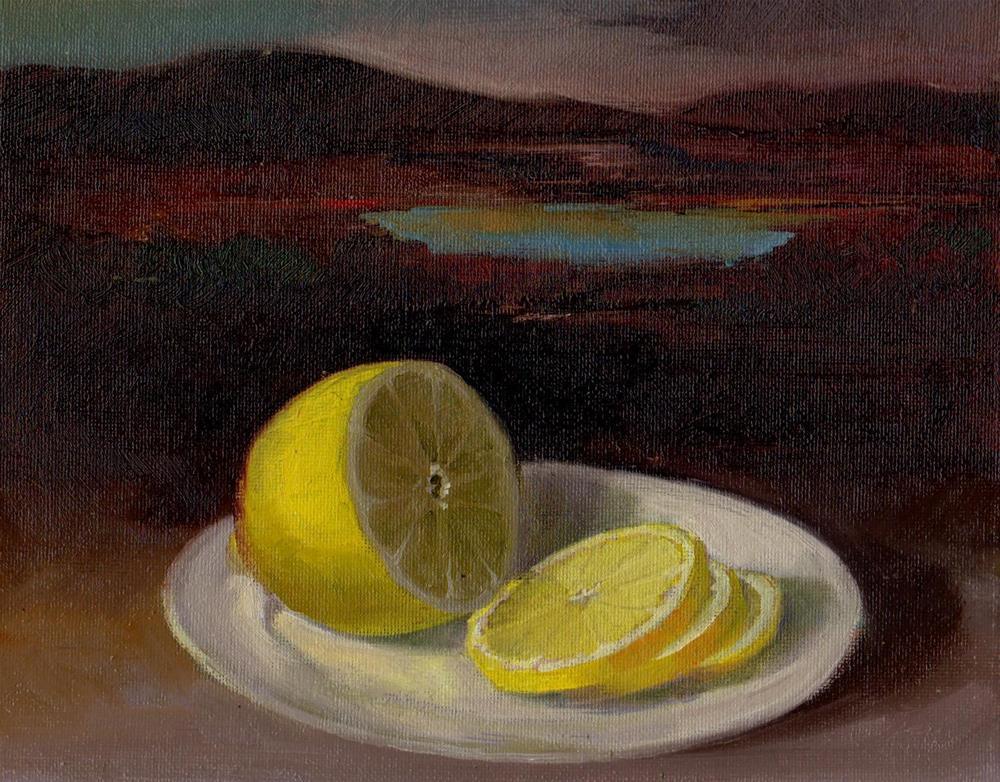 """""""lemon"""" original fine art by Mark DeBak"""