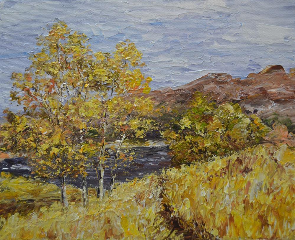 """SALE!!!!Derwent Path"" original fine art by Gloria Ester"