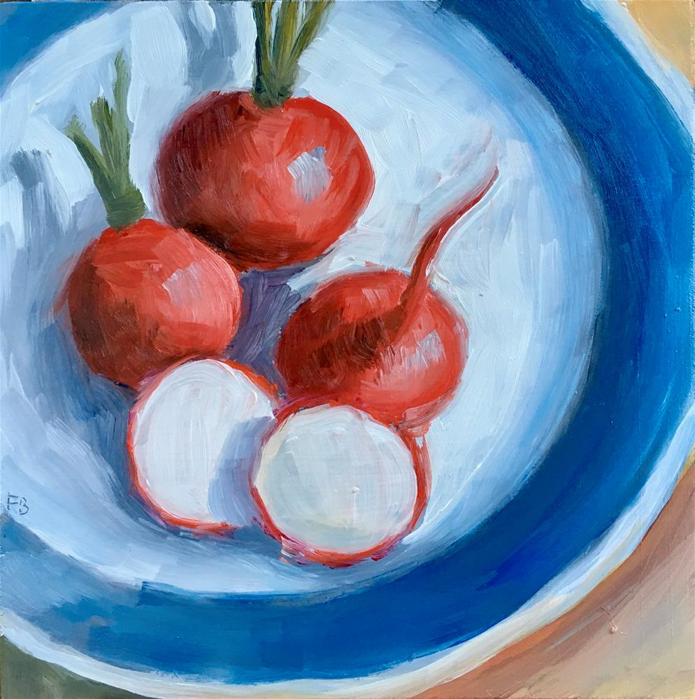 """""""116 Rosy Radishes """" original fine art by Fred Bell"""
