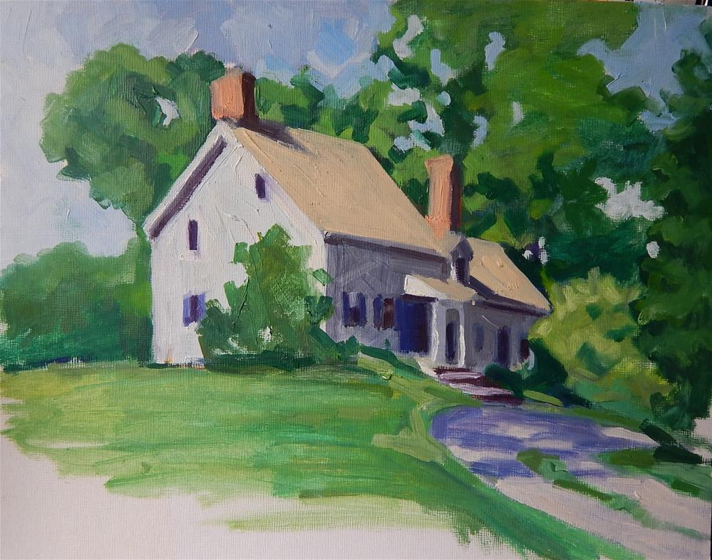 """""""Historic House in New Jersey"""" original fine art by Megan Schembre"""