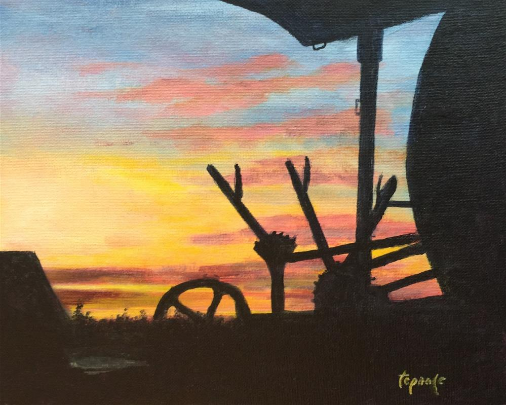 """Drivers View"" original fine art by T.C. Poole"