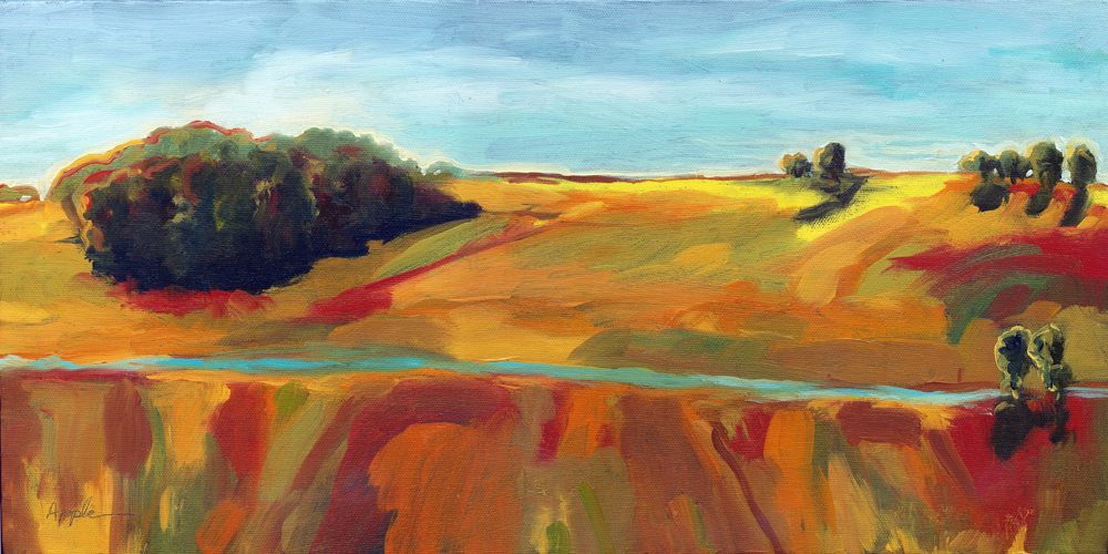 """Fields and Meadows"" original fine art by Linda Apple"