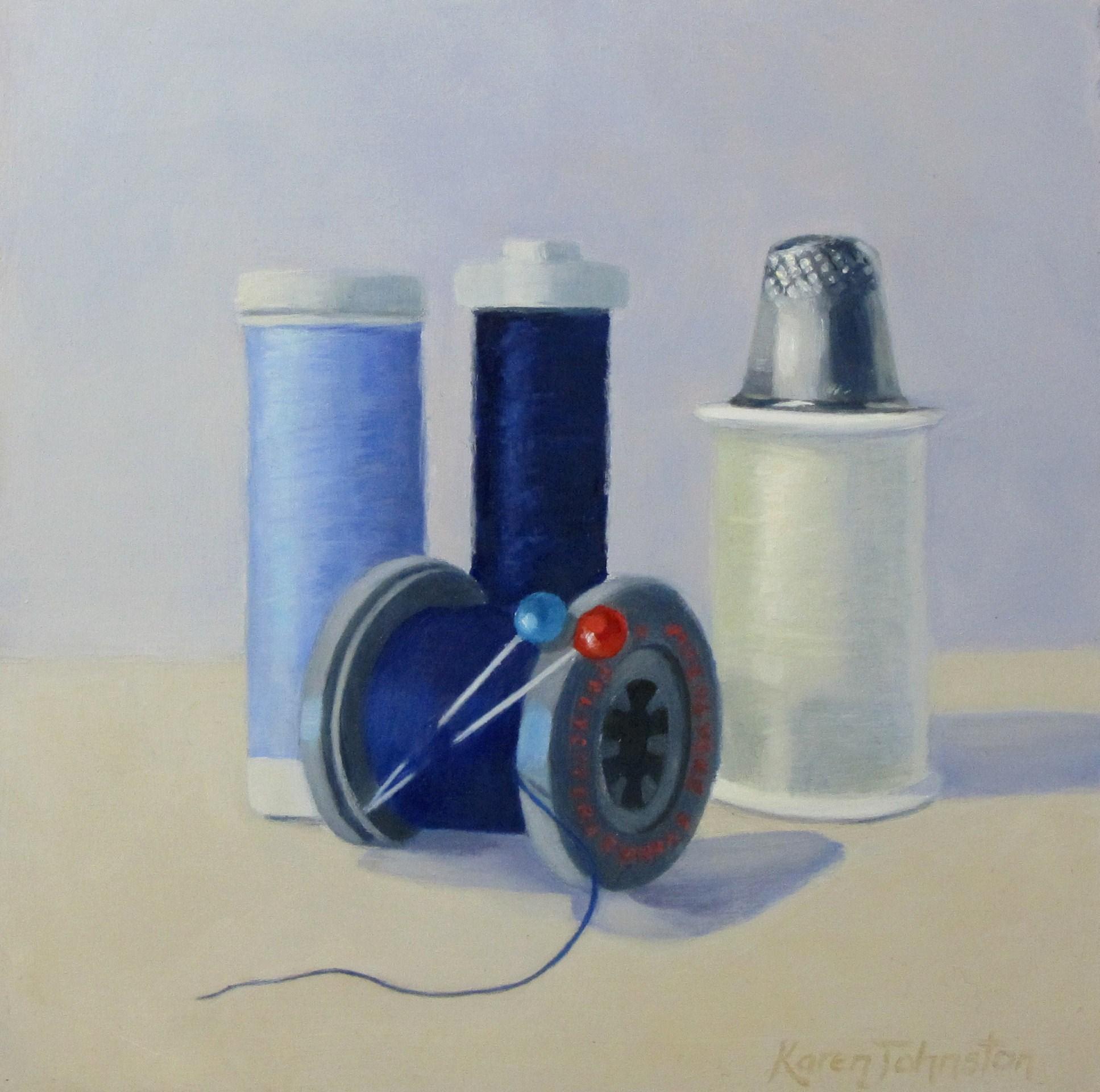 """Cotton Collection"" original fine art by Karen Johnston"
