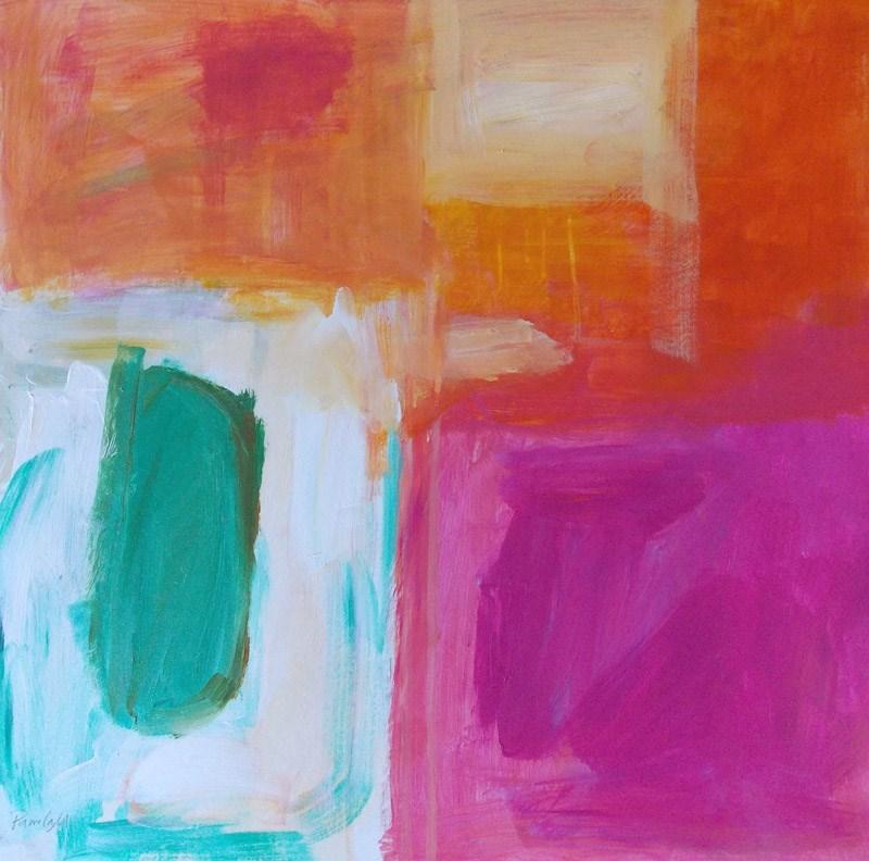 """""""Non Objective Green"""" original fine art by Pamela Munger"""