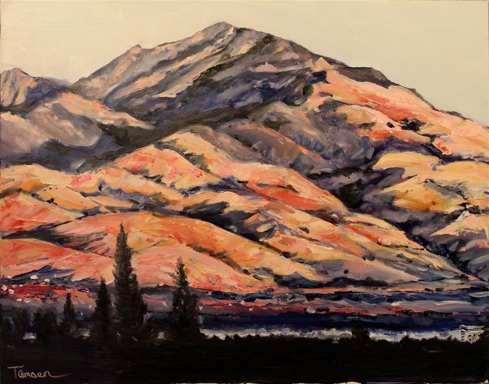 """""""Just Before Sunset"""" original fine art by Tamsen Armstrong"""