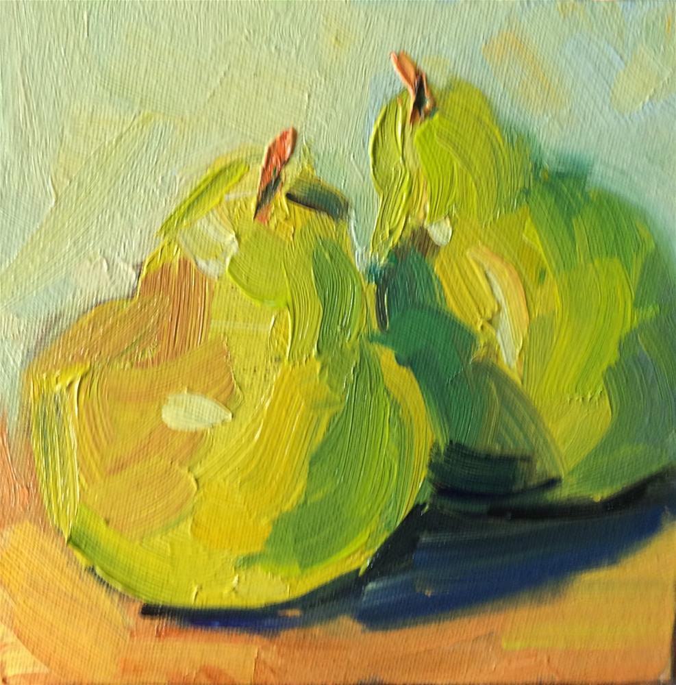 """Pears"" original fine art by Naomi Bautista"